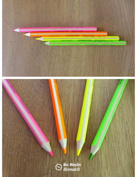 Crayon sec surligneur jaune fluo