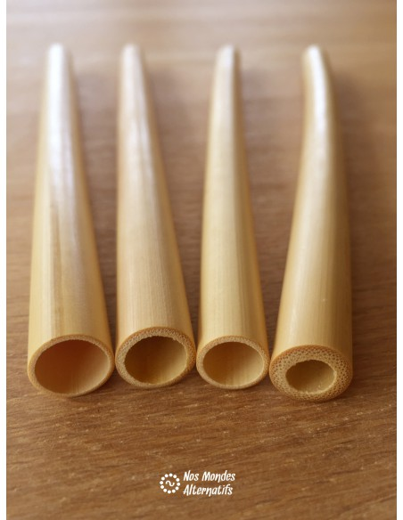Pailles en Bambou x 4 + Goupillon Coco