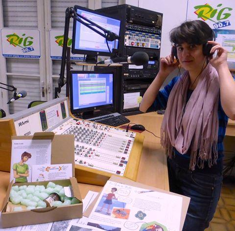 photo dans les locaux de radio RIG