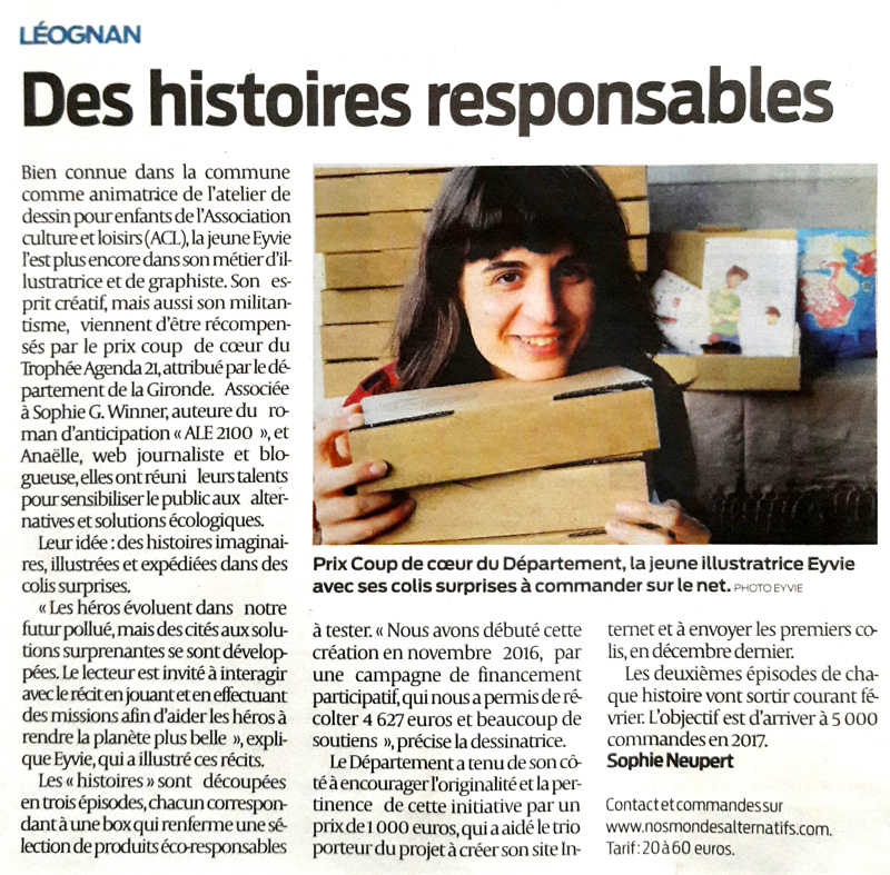 photo de l'article dans le journal de Léognan